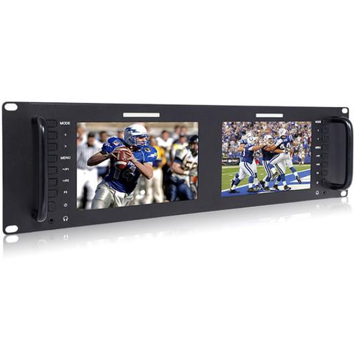 Avinair Spectre Dual Rack Monitor with HDMI, 3G/HD/SD-SDI, Video & Audio Inputs