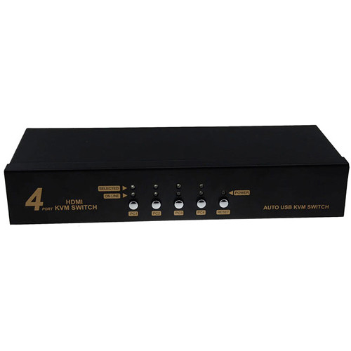 Avinair Spitfire 4-Port HDMI KVM Switch with USB (Metal Case)