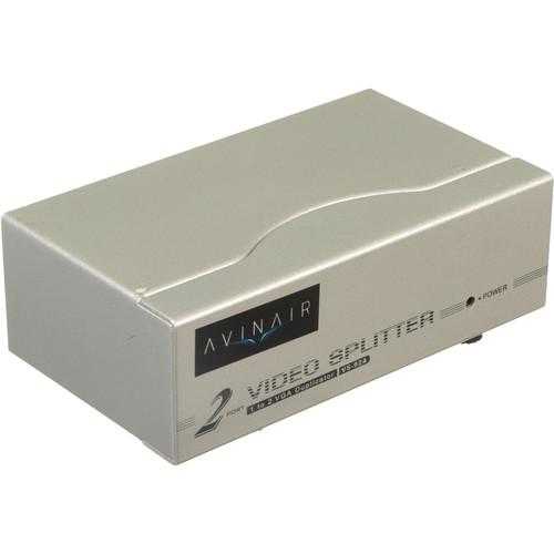 Avinair Spitfire 2-Port VGA Splitter (250 MHz, Metal Case)