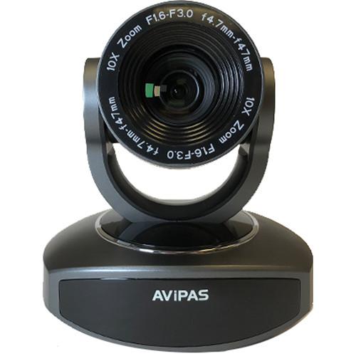 AViPAS 10x HDMI PTZ Camera with IP Live Streaming (Dark Grey)