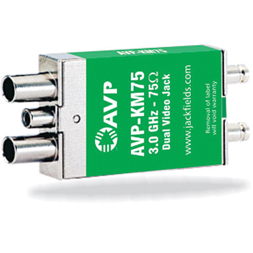 AVP-KM75 3GHz Non-Normaled Terminating Microsize Dual Video Jack