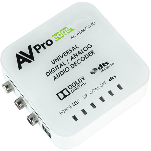 AVPro Edge Universal Digital/Analog Audio Decoder with Dolby Digital & DTS