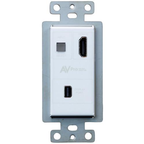 AVPro Edge Mini DisplaPort over HDBaseT Wall Plate Extender Kit (230')