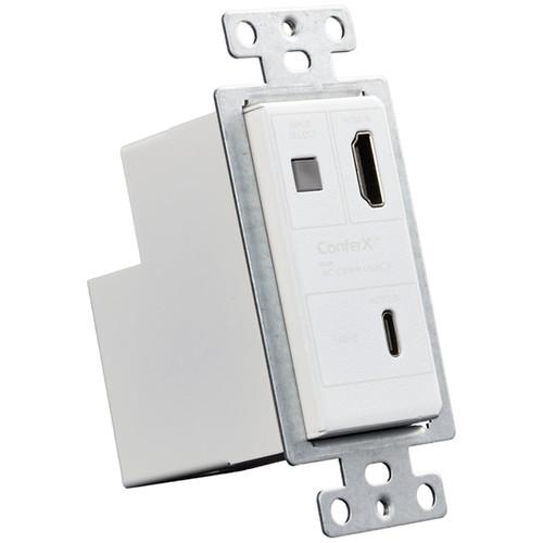 AVPro Edge ConferX HDMI/USB Type-C over HDBaseT Wall Plate Transmitter (White)