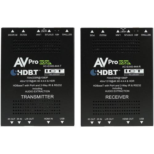AVPro Edge 4K 4:4:4 HDMI 2.0 over HDBaseT Extender Kit (131')