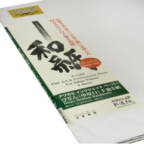 """Awagami Factory Bizan Medium Natural Handmade Paper (A2, 16.5 x 23.4"""", 5 Sheets)"""