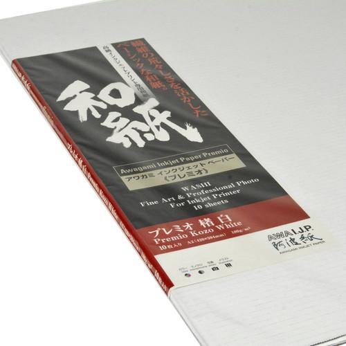 Awagami Factory Premio Kozo White Fine-Art Inkjet Paper (A2, 10-Sheets)