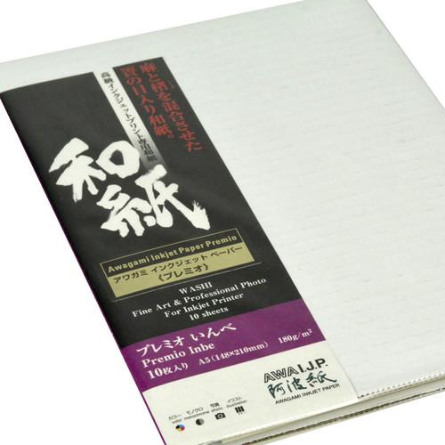 Awagami Factory Premio Inbe White Fine-Art Inkjet Paper (A5, 10-Sheets)