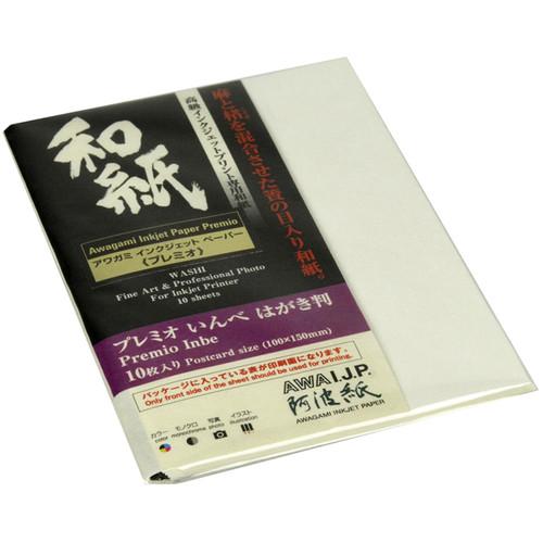 "Awagami Factory Premio Inbe White Fine-Art Inkjet Paper (3.9 x 5.9"", 10-Sheets)"