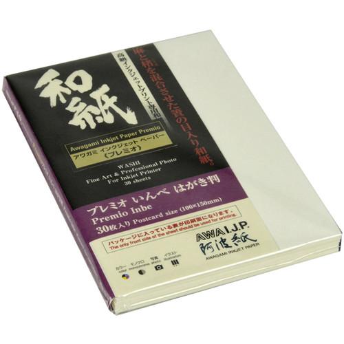 "Awagami Factory Premio Inbe White Fine-Art Inkjet Paper (3.9 x 5.9"", 30-Sheets)"