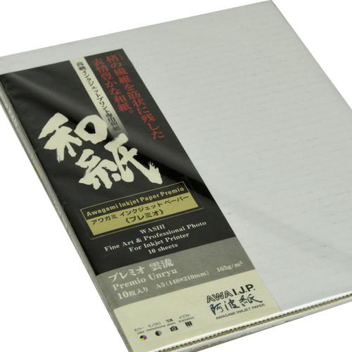 Awagami Factory Premio Unryu Fine-Art Inkjet Paper (A5, 165 gsm, 10 Sheets)