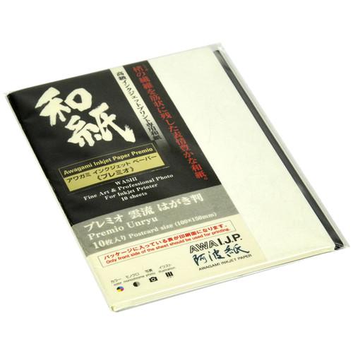 "Awagami Factory Premio Unryu Fine-Art Inkjet Paper (3.9 x 5.7"", 165 gsm, 10 Sheets)"