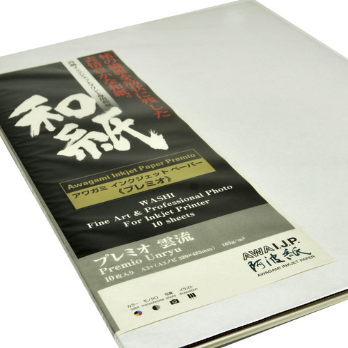 Awagami Factory Premio Unryu Fine-Art Inkjet Paper (A3+, 165 gsm, 10 Sheets)