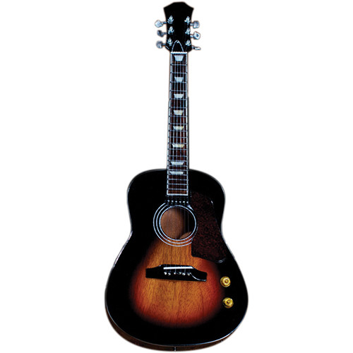 AXE HEAVEN Vintage Sunburst Finish Acoustic Miniature Guitar Replica Collectible