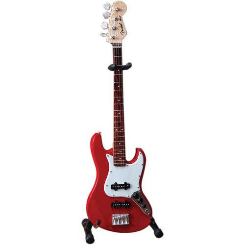 AXE HEAVEN Miniature Fender Jazz Bass Guitar Replica (Classic Red)