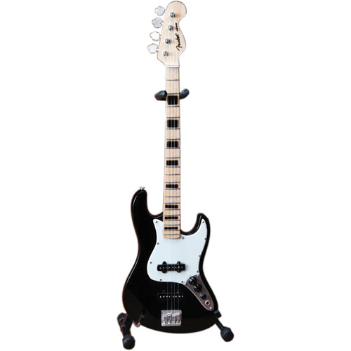 AXE HEAVEN Miniature Fender Jazz Bass Guitar Replica (Black)