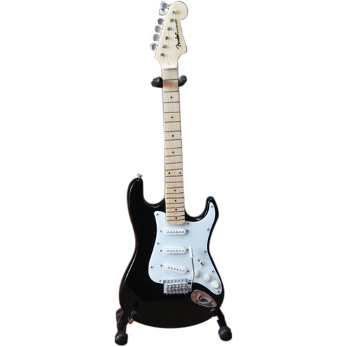 AXE HEAVEN Miniature Fender Stratocaster Guitar Replica (Classic Black)
