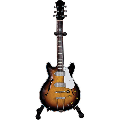AXE HEAVEN John Lennon Classic 1965 Sunburst Miniature Guitar Replica Collectible