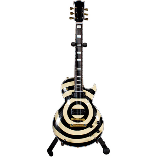 AXE HEAVEN Zakk Wylde Signature Cream Bullseye Miniature Guitar Replica Collectible