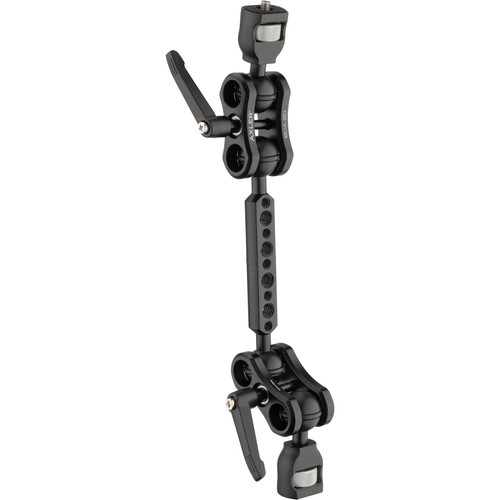 """Axler 12"""" Dual Mega Ball Clamp Arm with 1/4""""-20 Accessory Mounting"""