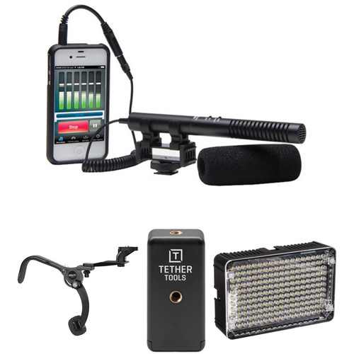 Azden SGM-990+i Shotgun Microphone, Street Audio and Video Recording Kit