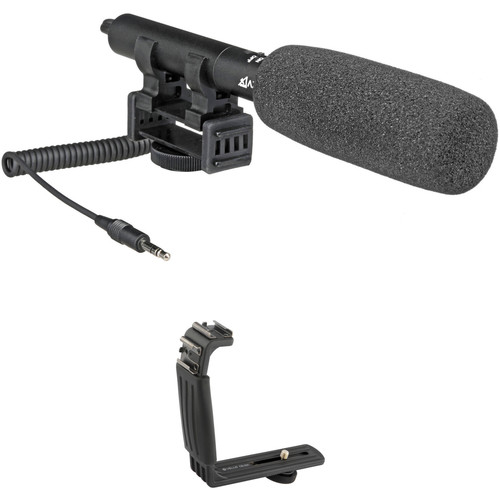 Azden SMX-10 Stereo Microphone and Dual Shoe Bracket Kit