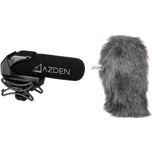 Azden SMX-15 Shotgun Video Mic and Furry Windshield Cover Kit