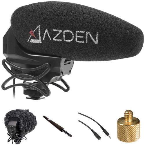 Azden SMX-30 Camera-Mount Shotgun Microphone Boompole Kit