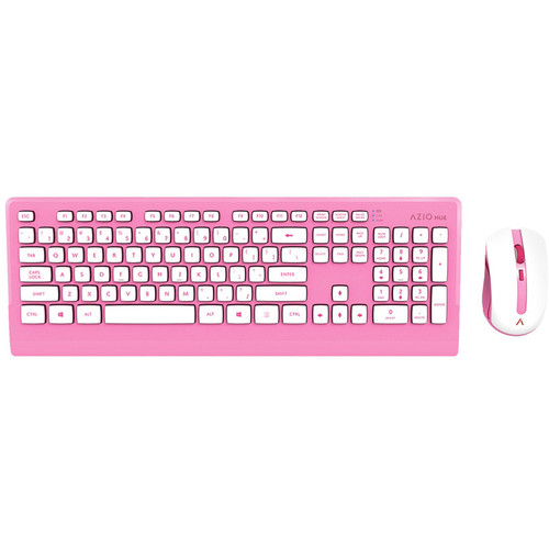 AZIO HUE Wireless Keyboard and Mouse (Pink)