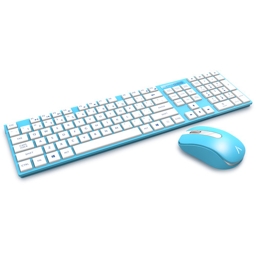 AZIO Hue 2 Wireless Keyboard & Mouse (Blue)