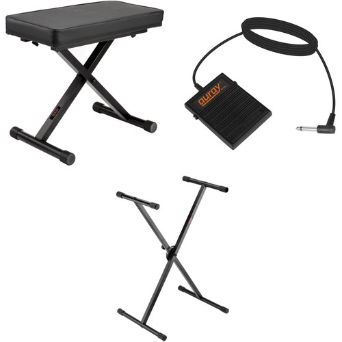 B&H Photo Video X-Stand with X-Bench and Sustain Pedal - Keyboard Essentials Kit