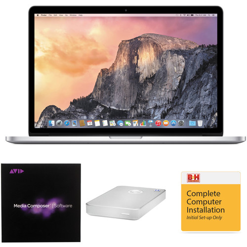 "B&H Photo Apple MacBook Pro Turnkey System with an Apple 15.4"" Retina Display MacBook Pro and Avid Media Composer 8"