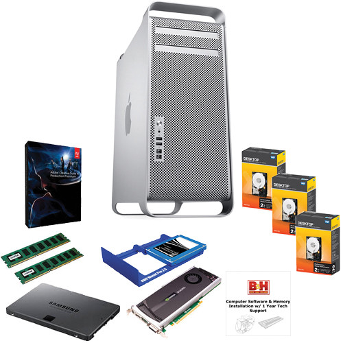 B&H Photo Mac Pro Workstation with Production Premium CS6; Upgraded RAM, Graphics, and Data Storage