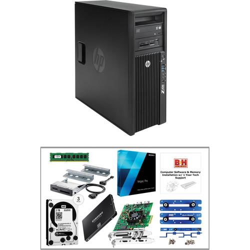 B&H Photo PC Pro Workstation Z420 Mid-Level Turnkey Kit with Sony Vegas Pro 13