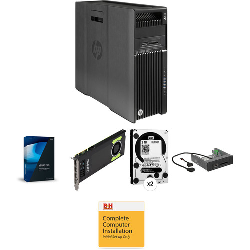 B&H Photo PC Pro Workstation 3.5 GHz Quad-Core / Vegas Pro 14 / Quadro 8GB / 16GB RAM / 4TB HDD / 256GB SSD