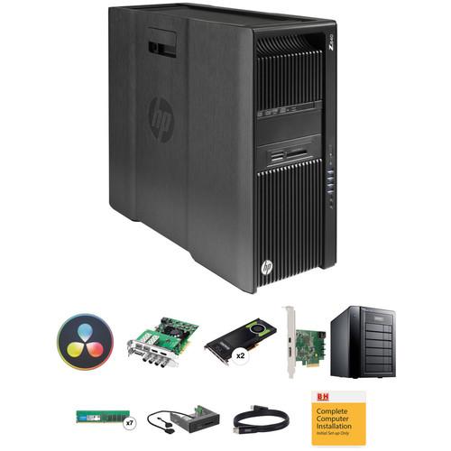 B&H Photo PC Pro Workstation HP Z840 DaVinci Resolve Turnkey with Decklink 4K Extreme and 18TB RAID