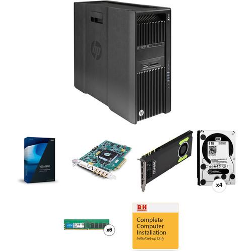 B&H Photo PC Pro Workstation HP Z840 Vegas Pro 14 KONA 4 Quadro M4000 Turnkey