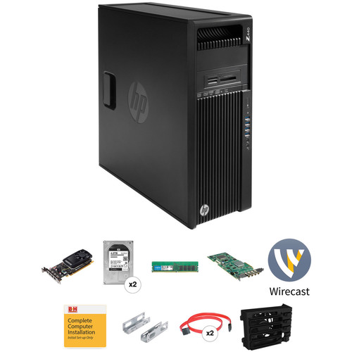 B&H Photo PC Pro Workstation HP Z440 and Telestream Wirecast Turnkey with Matrox VS4 I/O