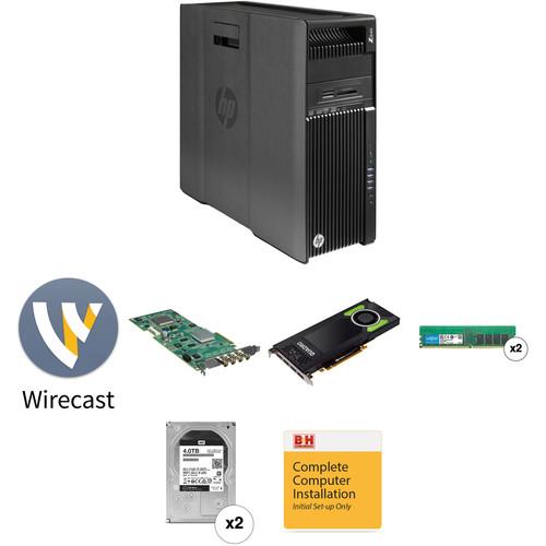 B&H Photo PC Pro Workstation Mid Range Telestream Wirecast Pro 8 Turnkey with HD Capture Card