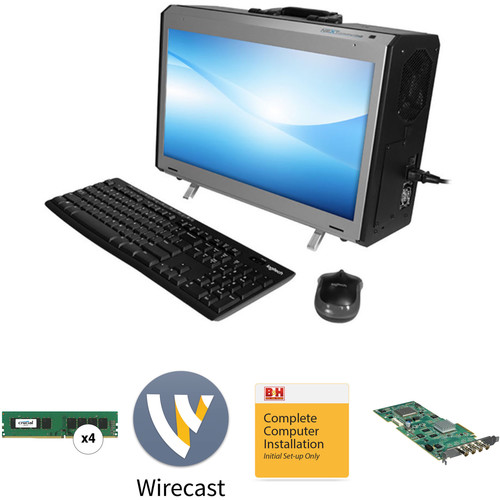 "B&H Photo PC Pro Workstation NextComputing Radius All-In-One 17.3"" Portable Desktop Computer with Wirecast Pro 8"