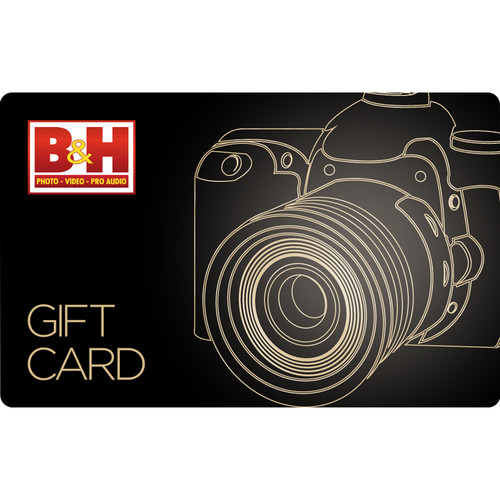 B&H Photo Video Promotional $250.00 B&H Gift Card/200 + $50