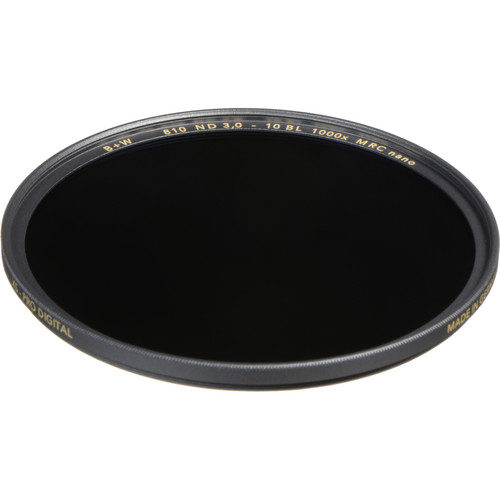 B+W 67mm XS-Pro MRC-Nano 810 Solid Neutral Density 3.0 Filter (10-Stop)