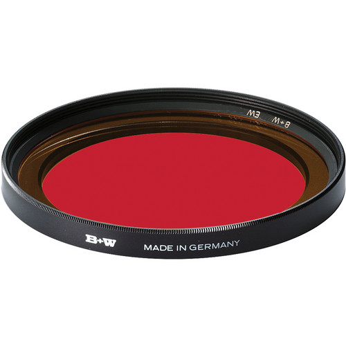 B+W 77mm Extra Wide Dark Red 091 Glass Filter