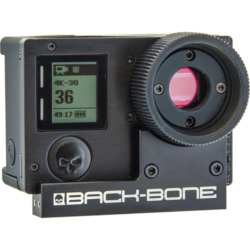 Back-Bone Gear Ribcage Modified GoPro HERO4 Black Panoramic Rig with 220° Fisheye Lenses Kit