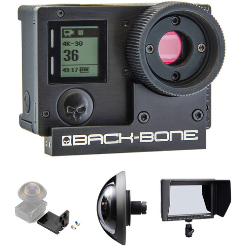 "Back-Bone Gear Ribcage Modified GoPro HERO4 280° Kit with 7"" HDMI Monitor"