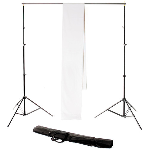 Backdrop Alley Studio Kit with Muslin Backdrop (10 x 12', White)