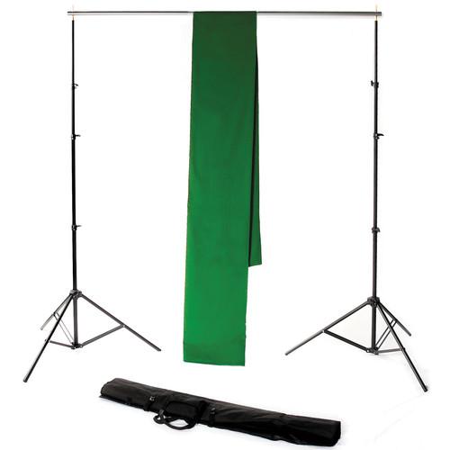 Backdrop Alley STDKT-24G Studio Stand with Chroma-Key Green Background Kit ( 10 x 24')
