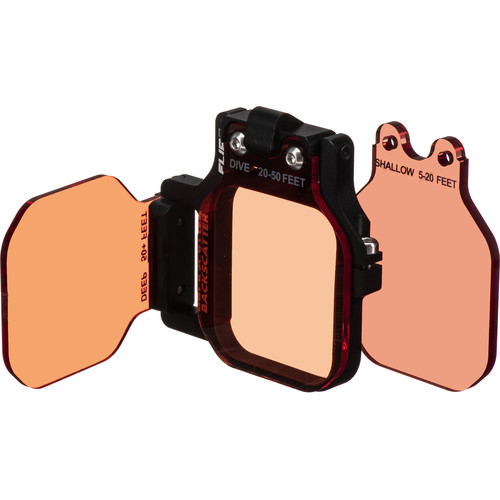 Flip Filters FLIP7 3-Filter Kit with SHALLOW, DIVE, and DEEP Filters for GoPro HERO Cameras