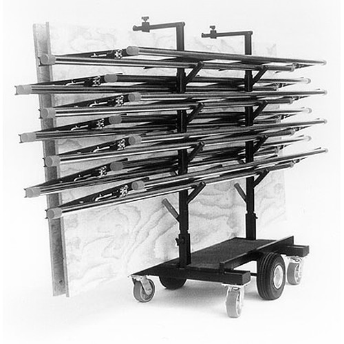 Backstage Equipment Tube and Plywood Track Cart