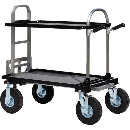 "Backstage Equipment Magliner Junior Cart with 10"" Wheels & 24"" Shelves"